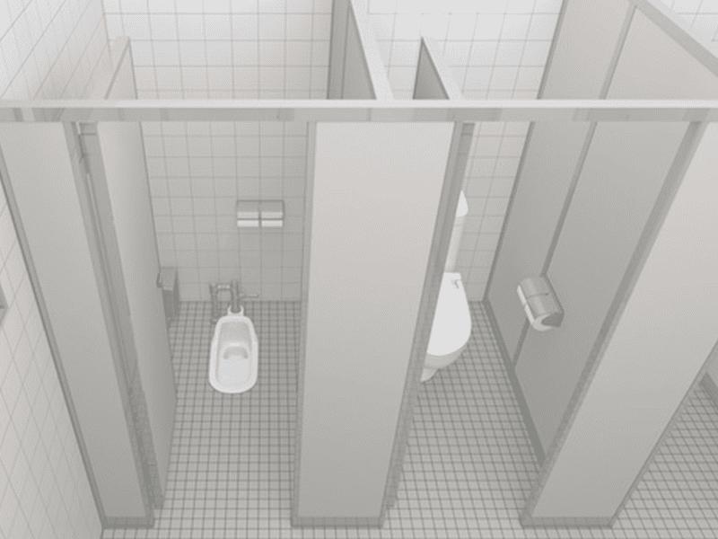 トイレ用パーテーション